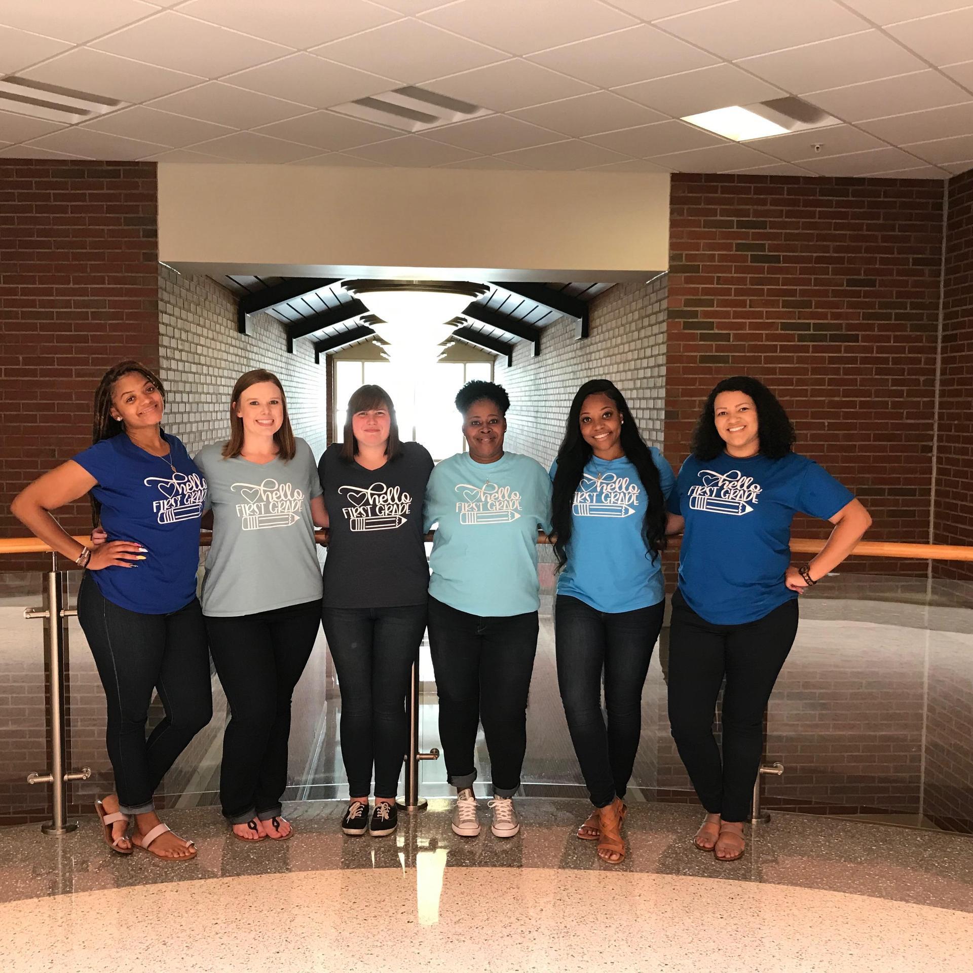 First Grade Team (left to right) Jasmine Slappey, Brittany Stevenson, Elizabeth Pearce, Zakiyah Bell, Shantoria McClain, Asia Spencer.
