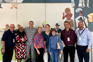 French delegation visits Evans Community Adult School