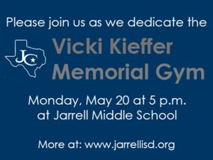 Vicki Kieffer memorial gym dedication.