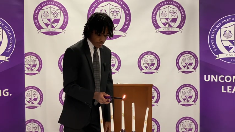 NHS President presides over induction ceremony
