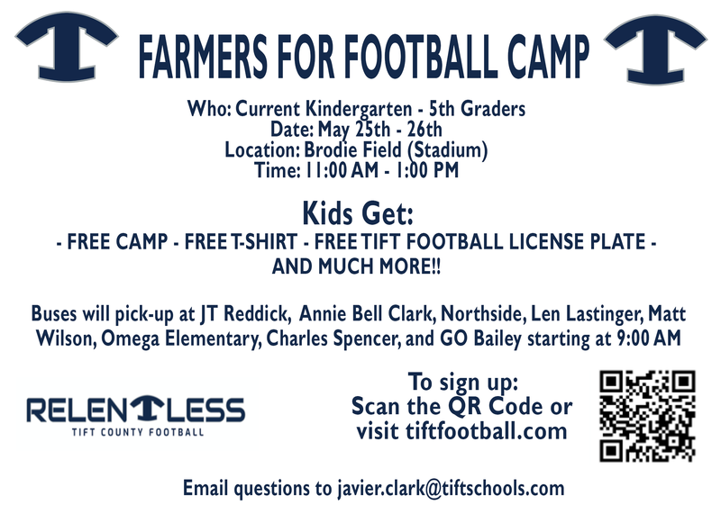 Tift County Football Hosts Farmers for Football Camp Featured Photo