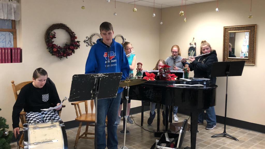 Middle school caroling group