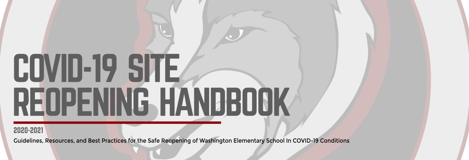 COVID-19 Site Reopening Handbook 2020-2021