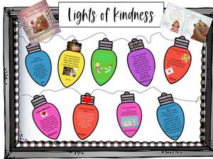 Lights of Kindness with quotes and white background