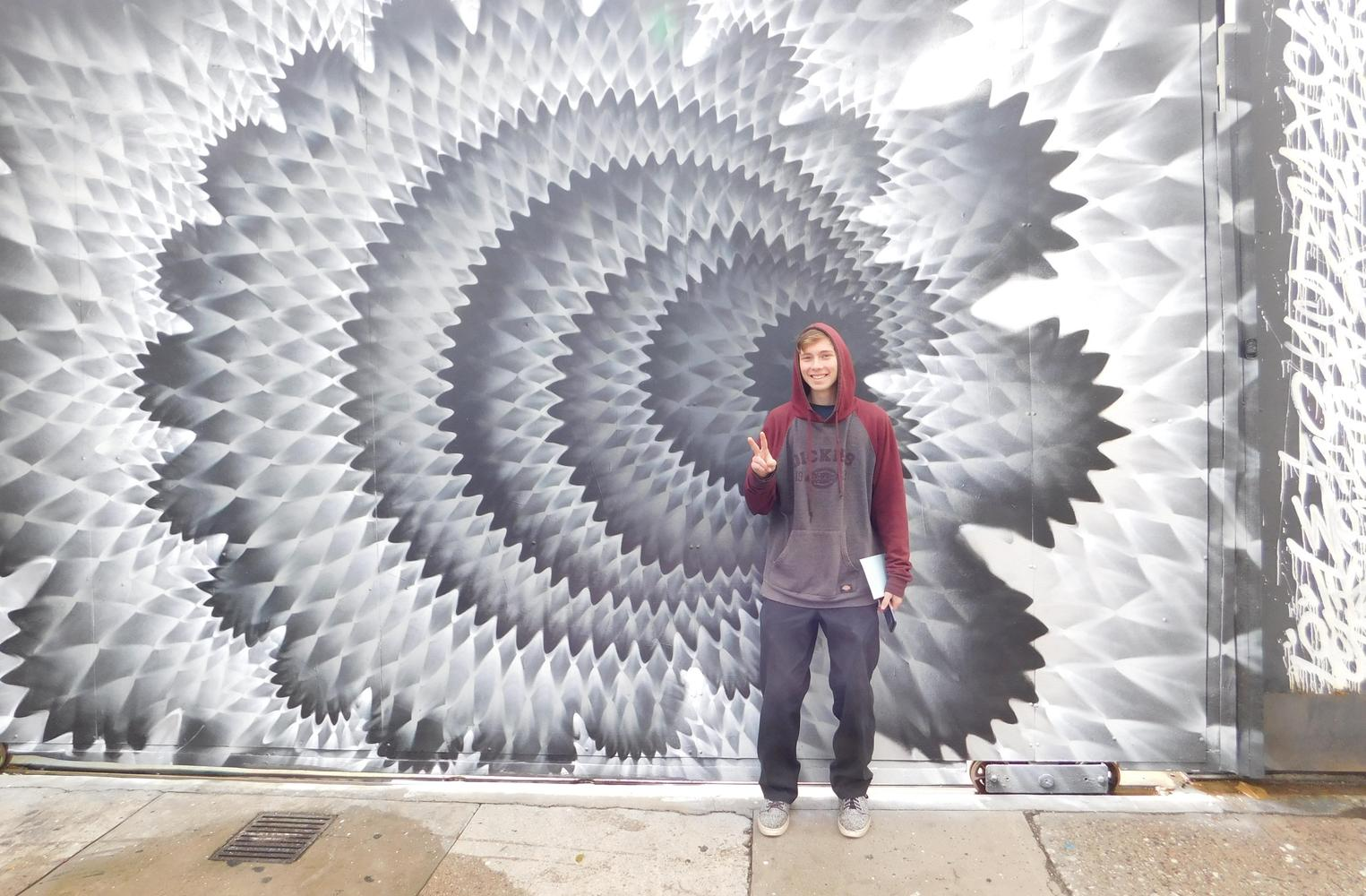 Student by LA Wall Mural
