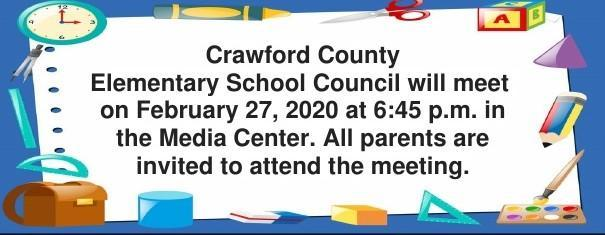 February School Council Meeting
