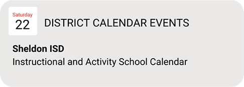 Brand NEW calendar for Sheldon families / Nuevo calendario para las familias de Sheldon Featured Photo