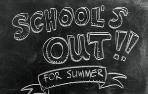 School's Out Chalkboard Clipart