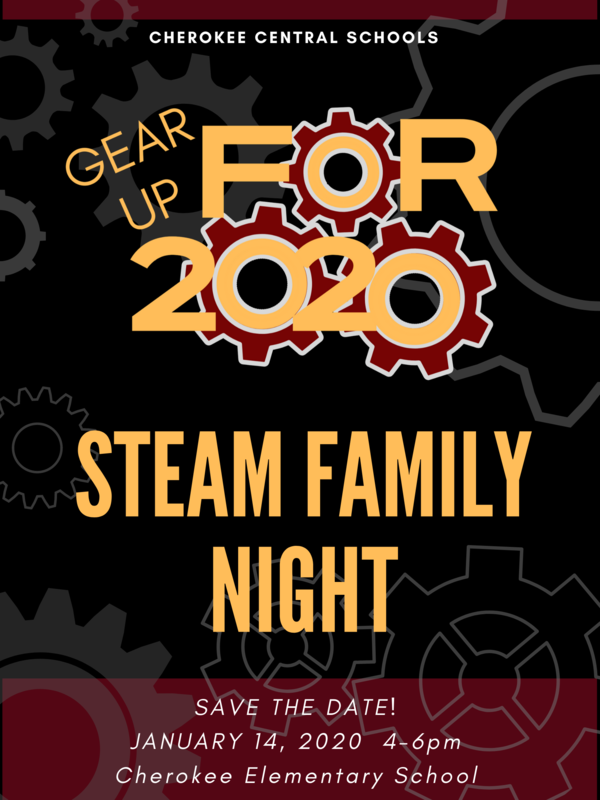 STEAM NIGHT 2020 Flyer