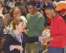 STUDENT HEAR THE STORY OF MARION BLUMENTHAL LAZAN, A CHILD HOLOCAUST SURVIVOR