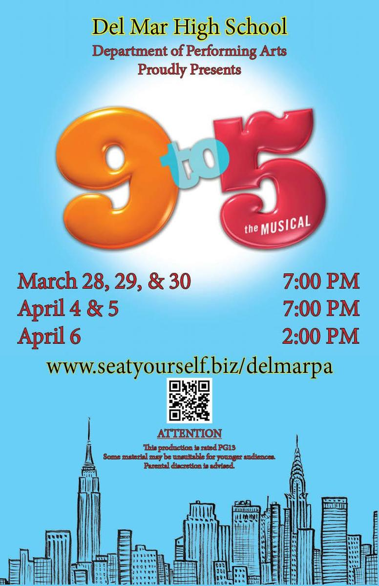 Image of 9 to 5 Musical on March 28 to April 6, 2019