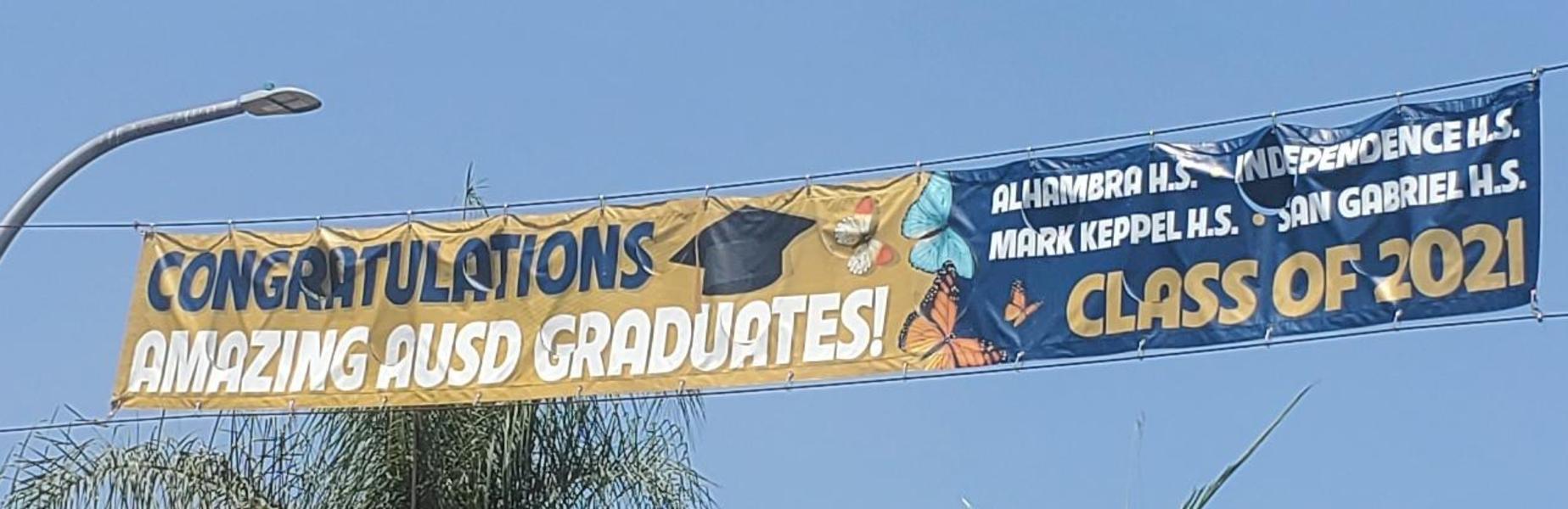 AUSD 2021 Graduates Banner