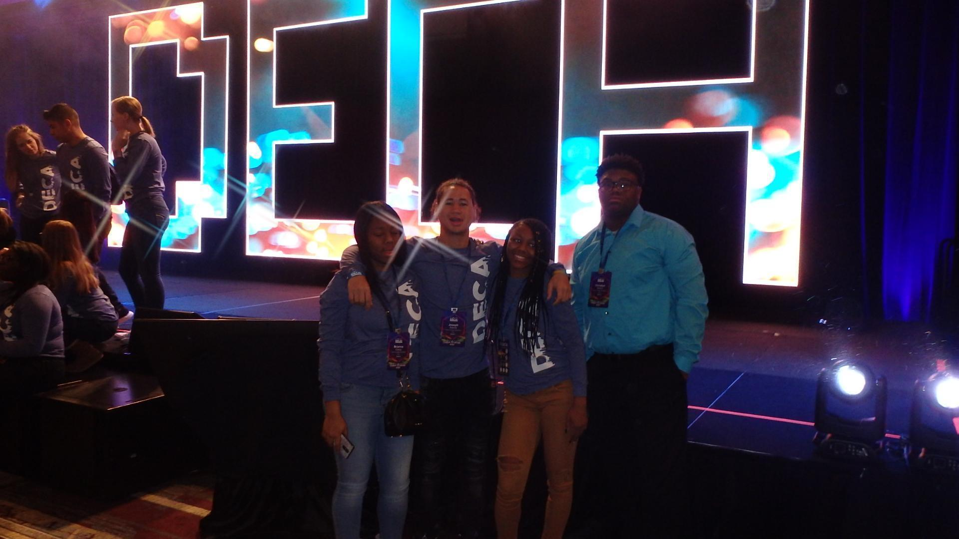 DECA Competition-Brianna Casey, Joe Adams, Cori Beam and Christian Easton