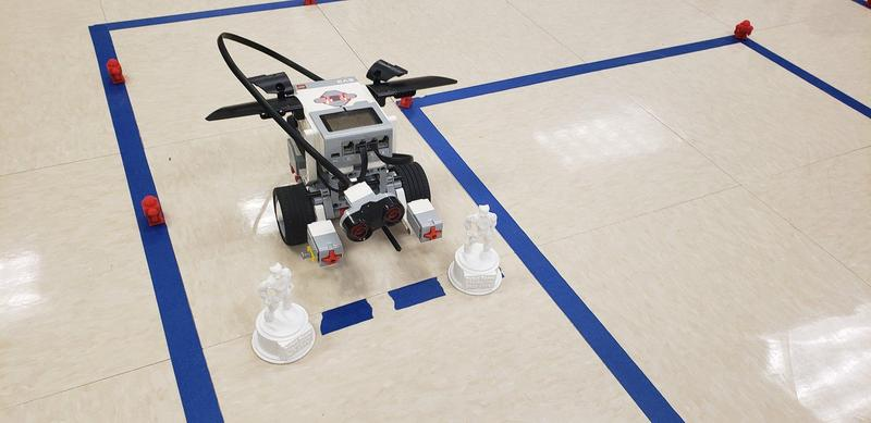 Bear Branch Junior High students compete in the first Robot Race.