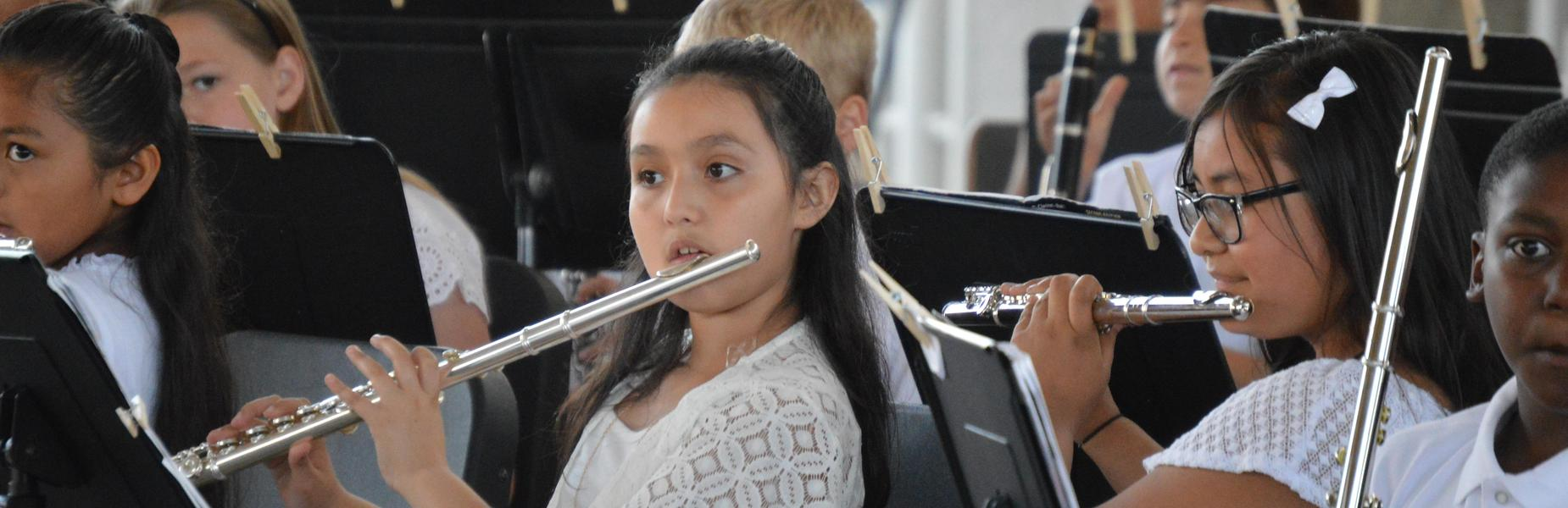 Elementary Band Students Performing
