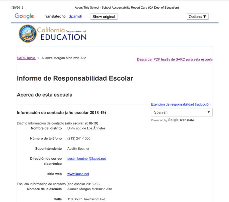 Informe de Responsabilidad Escolar Thumbnail Image