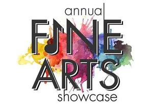 text that says fine arts showcase