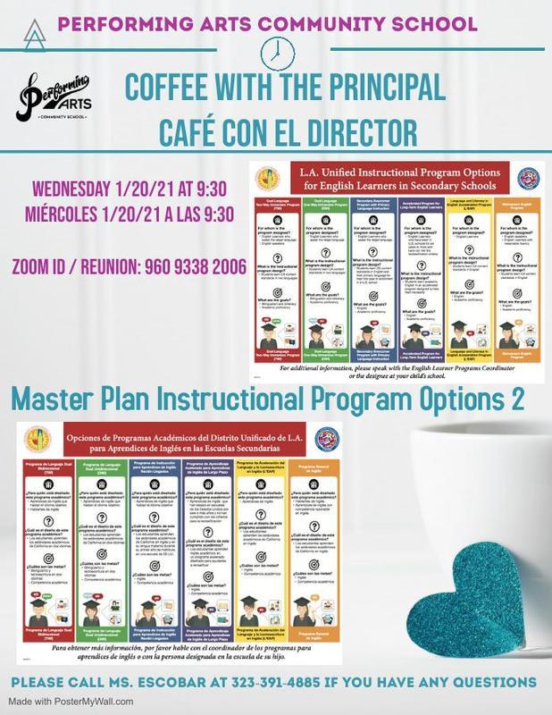 Coffee with the Prinicpal | Café con el director Featured Photo