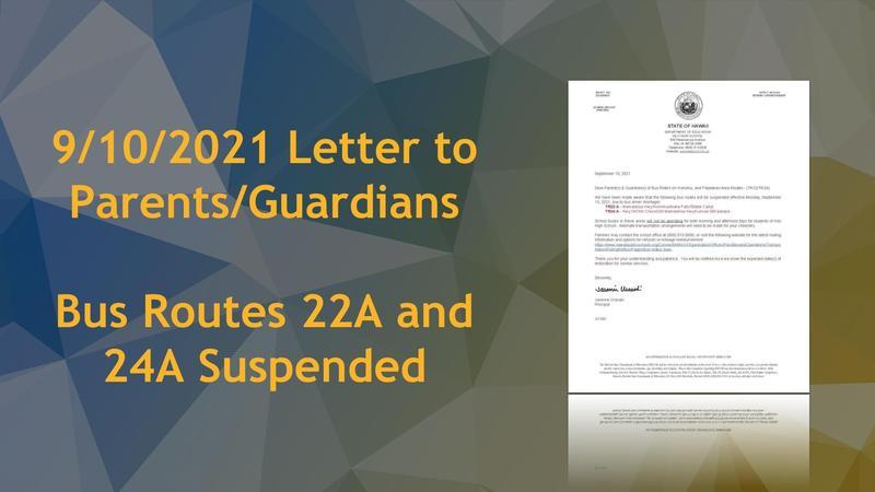 LTP - Bus Route Suspension TR22/24 - 09/10/2021 Featured Photo