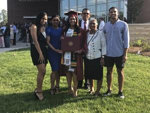Charleen graduates from Elon University
