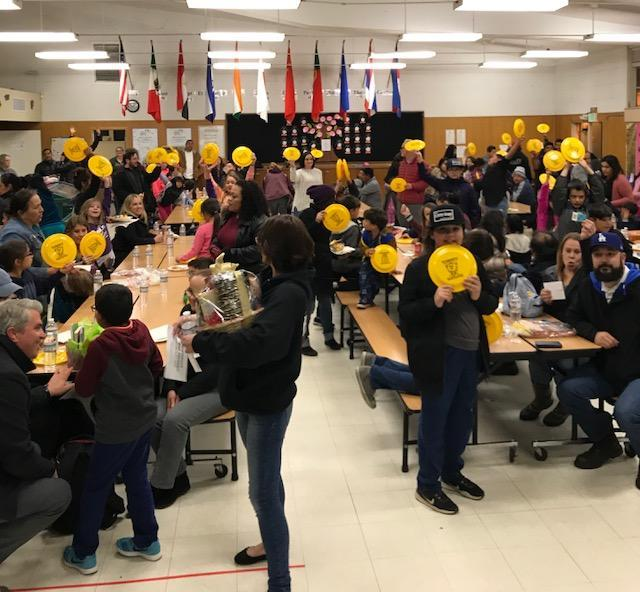 Photo of participants in cafeteria on IB Night 2018