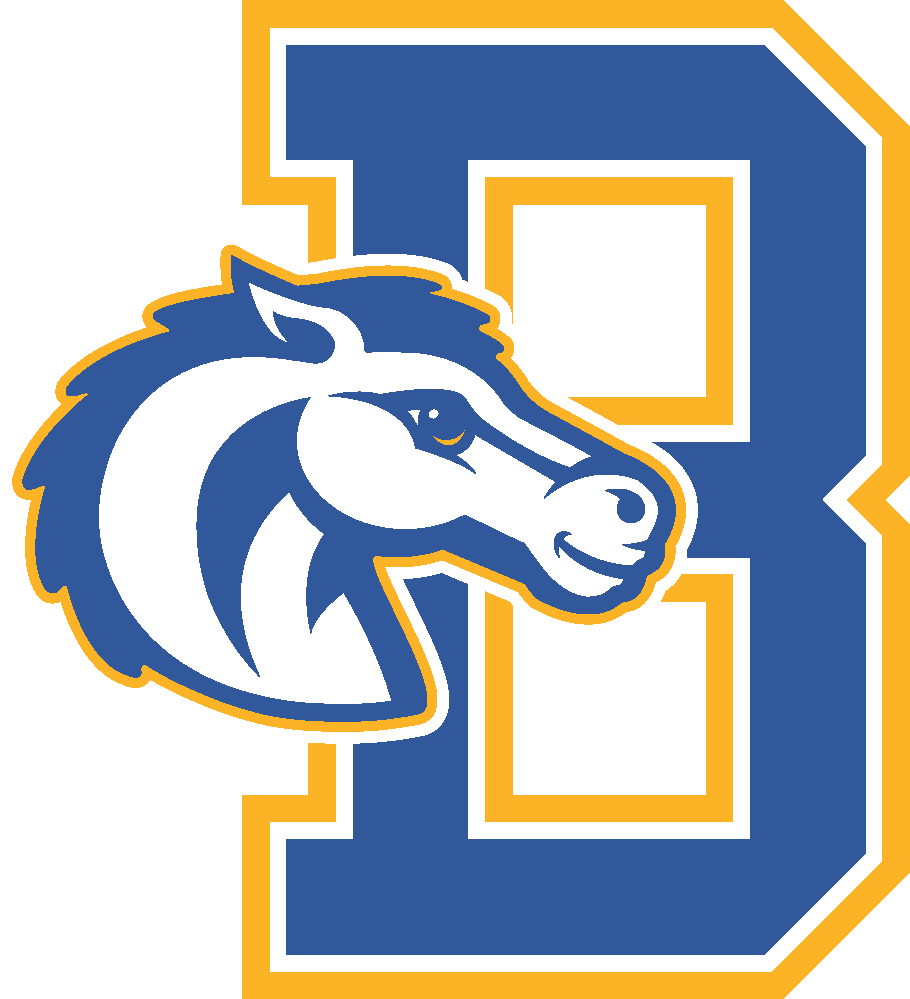 Bradfield letter logo with bronco