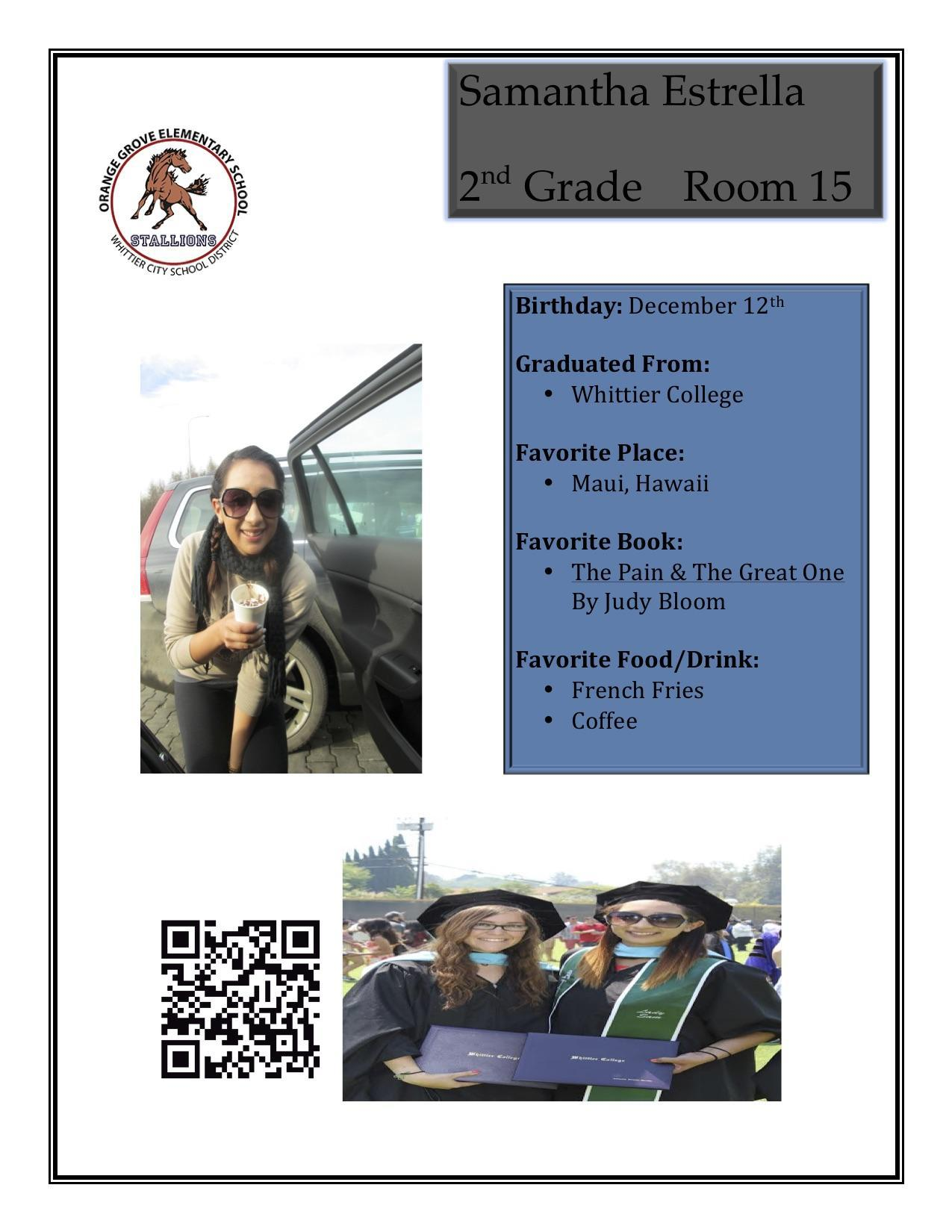 staff flyer for Miss Estrella