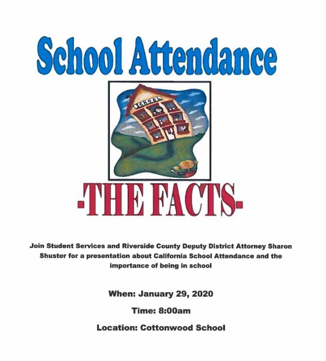 School Attendance Flyer