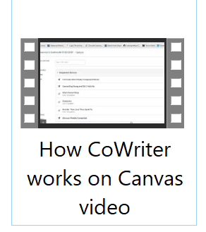 how cowriter works on canvas video