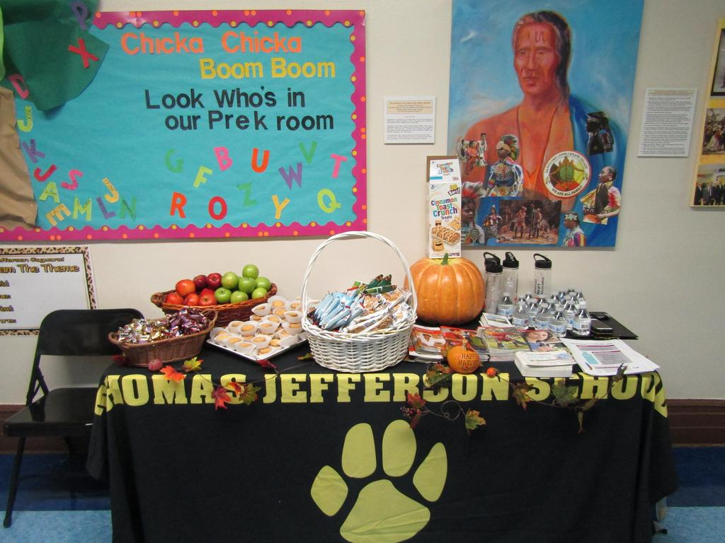 parents snack table ready for parents