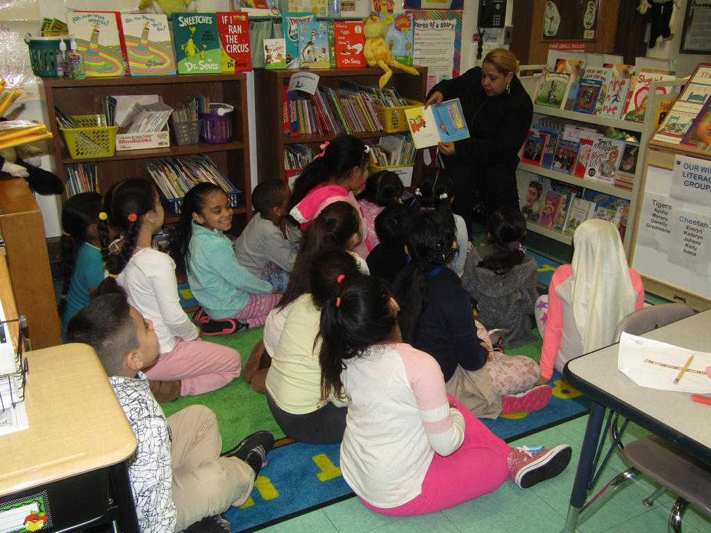 another mom reading to her child's class