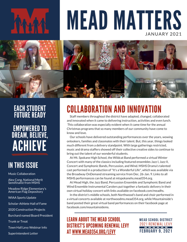 Mead Matters Newsletter Front Page Thumbnail