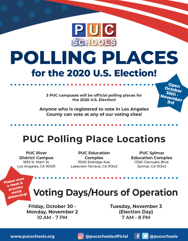 Polling Places for the 2020 U.S. Election - LUGARES DE VOTACIÓN para las elecciones de los Estados Unidos de 2020! Featured Photo