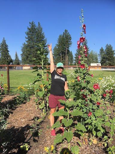 Mrs. Bainbridge loves to garden!