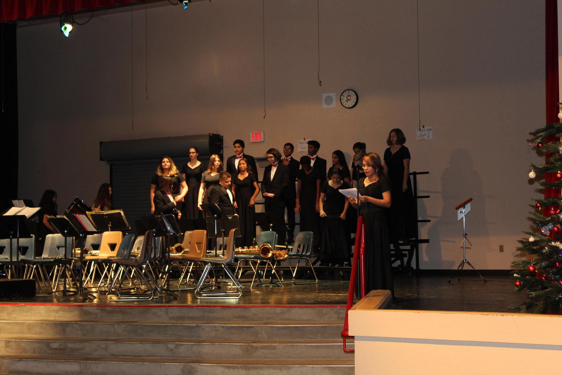 The CUHS Choir is introduced.