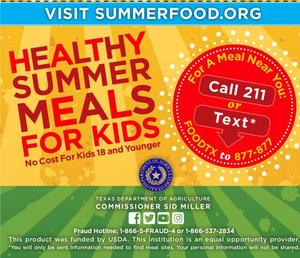 Summer Meals info in English