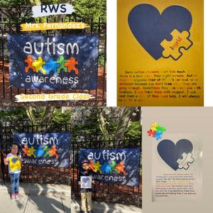 Autism assignments on right and students on left collage