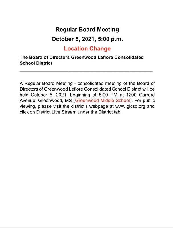 Regular Board Meeting (Location Change) Featured Photo