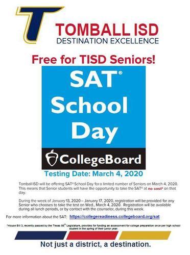 March 4 Senior SAT