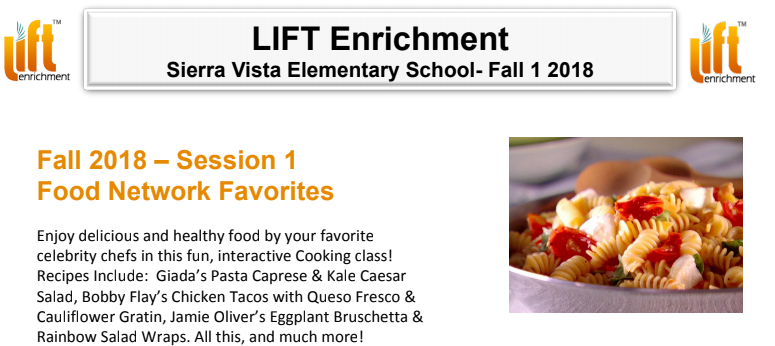 LIFT Enrichment Session 1 Fall 18