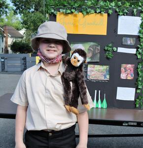 Photo of Wilson 5th grader dressed as Jane Goodall.