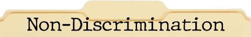 Non-Discrimination File Folder