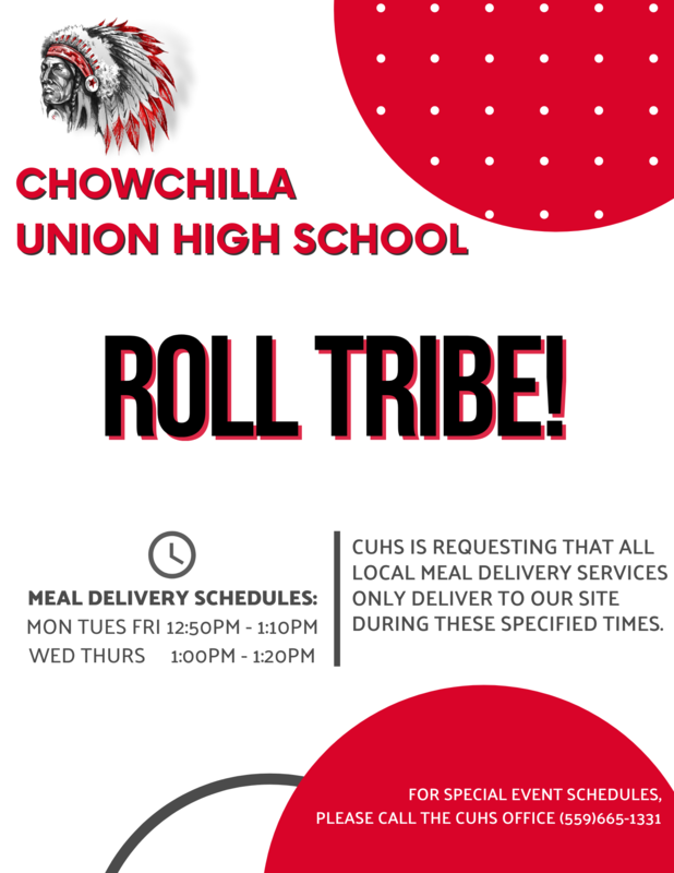 Lunch delivery times