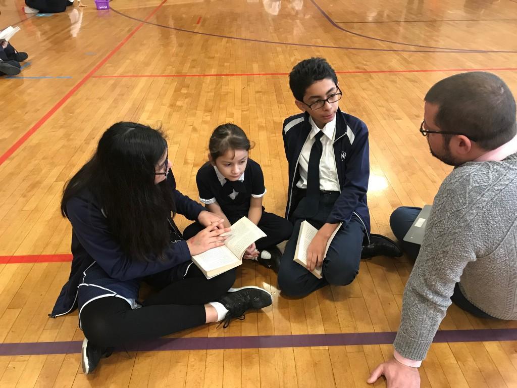 Students partner read