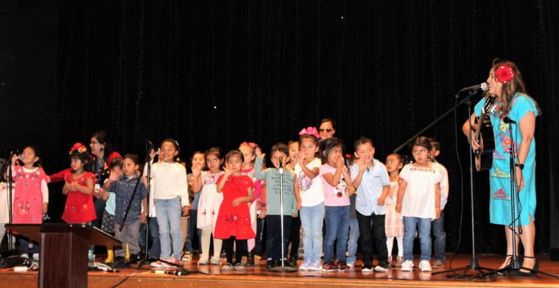 Baldwin Park Unified Early Childhood Education (ECE) students perform upbeat, popular children's songs as a highlight of the ECE program's annual community partnership recognition lunch, held May 16.