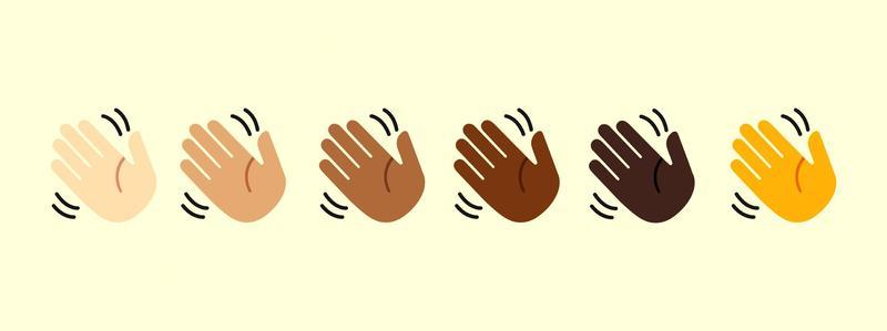 Clip art, hands waving hello