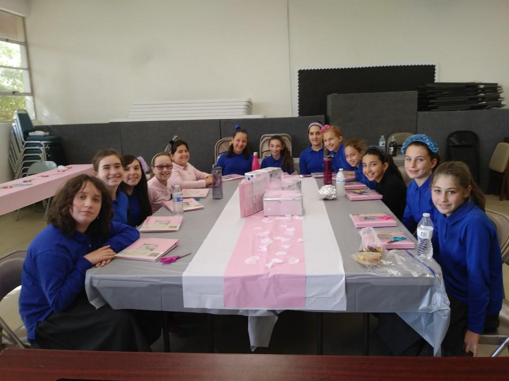 Girls at Bas Mitzva celebration