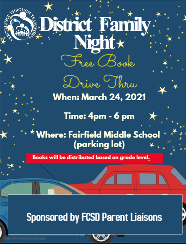 information about family night March 24th 4-6 at FMS