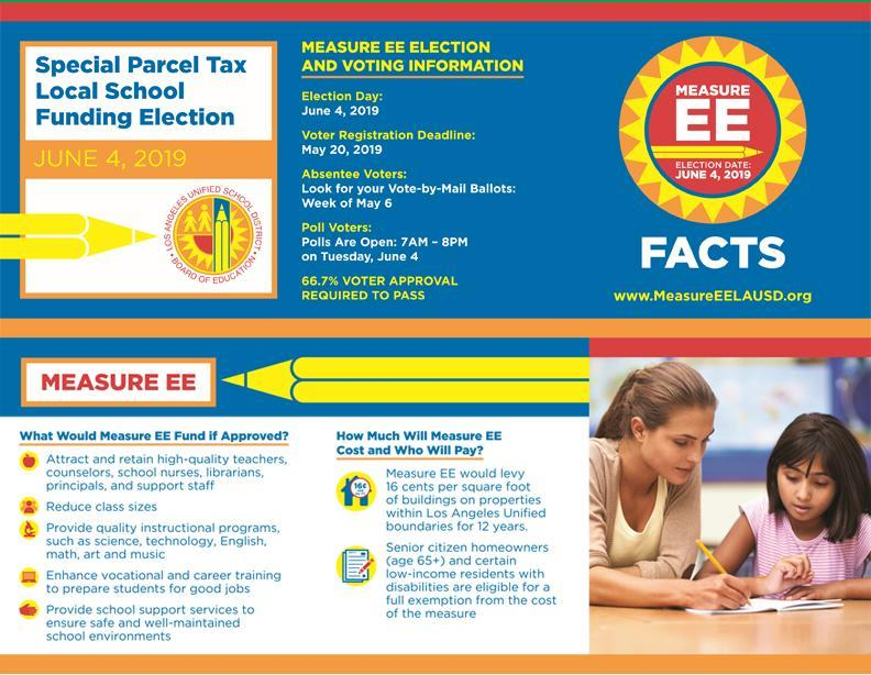 Special Parcel Tax Local School Funding Election, June 4th, 2019 Thumbnail Image