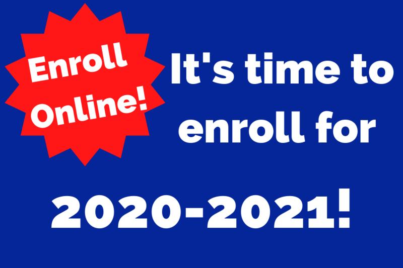 2020-2021 Enrollment is Open! Thumbnail Image